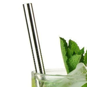 STRAIGHT Stainless Steel Drinking Straws (12mm x 215mm)
